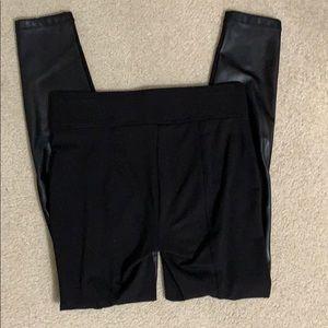LOFT Pants - LOFT legging with faux leather front!!  Size S